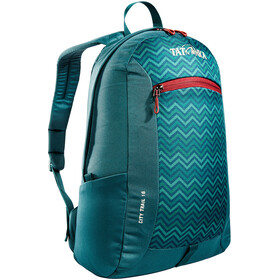 Tatonka City Trail 16 Rugzak, teal green zig zag